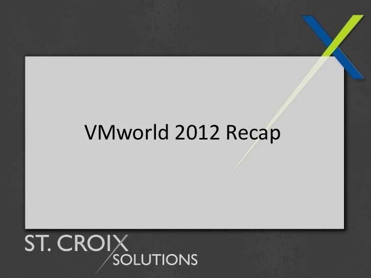 VMworld 2012 Recap