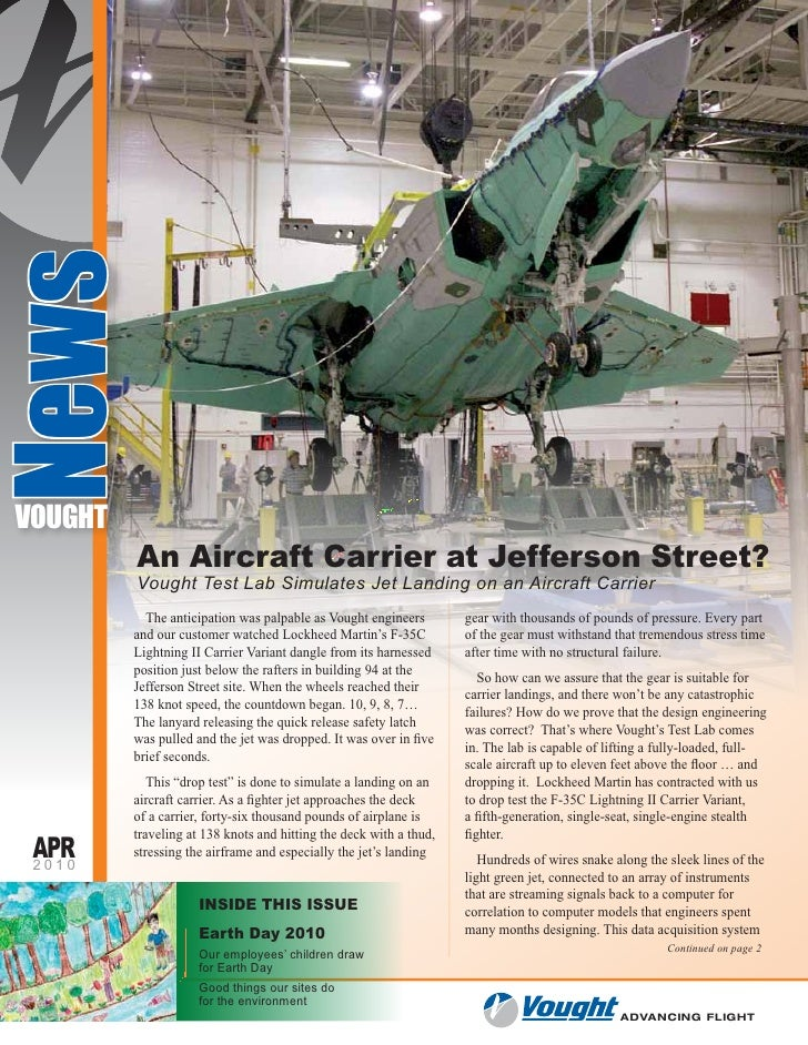 News    VOUGHT           An Aircraft Carrier at Jefferson Street?           Vought Test Lab Simulates Jet Landing on an Ai...