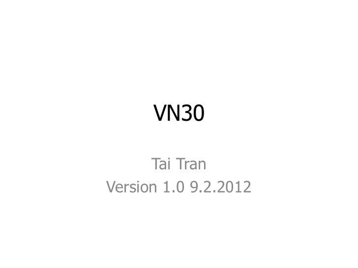 Thông tin cơ bản chỉ số VN30 - TaiTran
