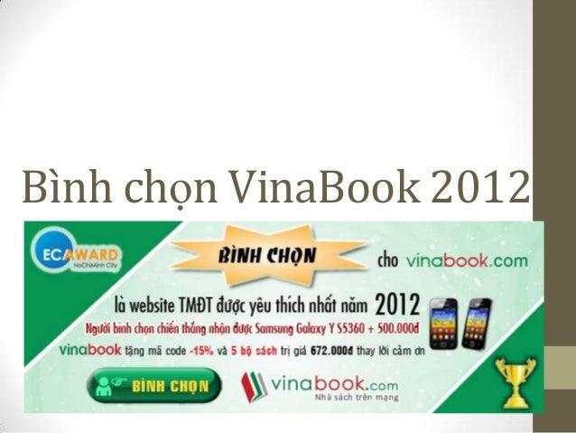 Bình chọn VinaBook 2012