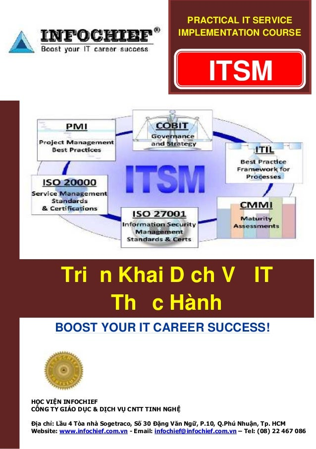 PRACTICAL IT SERVICE IMPLEMENTATION COURSE  ITSM  Triển Khai Dịch Vụ IT Thực Hành BOOST YOUR IT CAREER SUCCESS!  HỌC VIỆN ...