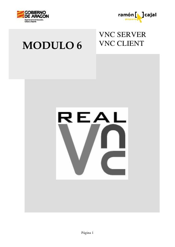 VNC SERVER MODULO 6          VNC CLIENT            Página 1