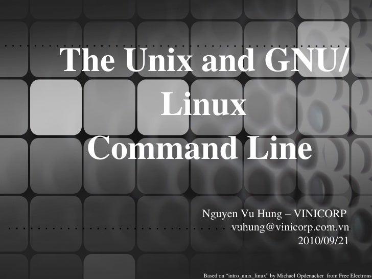 Nguyễn Vũ Hưng: Basic Linux Power Tools