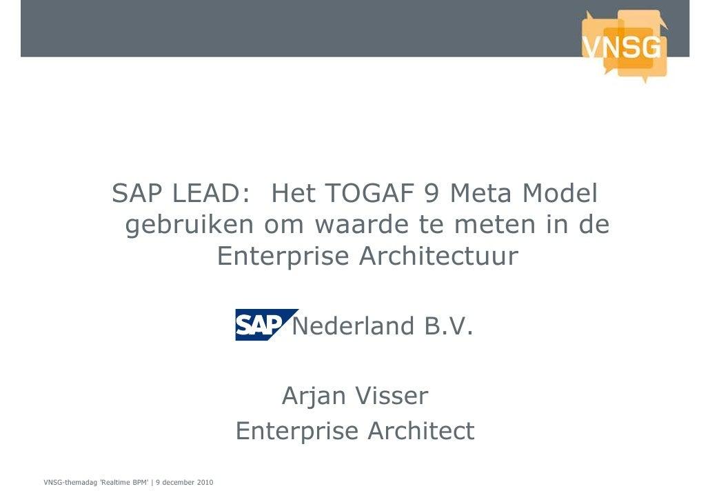 VNSG BPM Themadag 2010 SAP LEAD