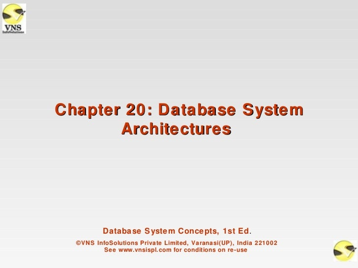 Chapter 20: Database System       Architectures          Database System Concepts, 1st Ed.  ©VNS InfoSolutions Private Lim...
