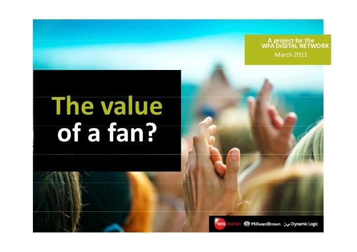 Value of a fan