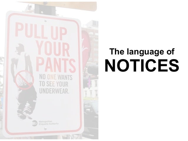 The language of NOTICES