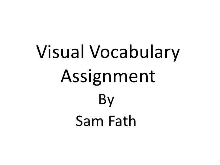 Vocab assignment