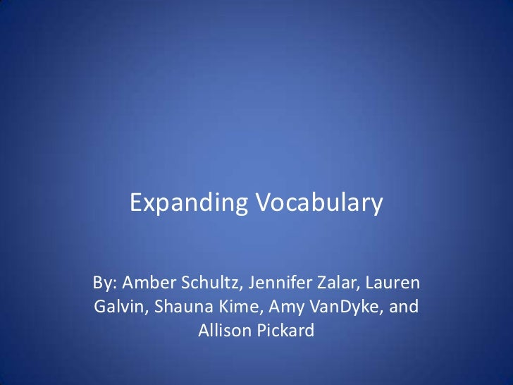Expanding Vocabulary Presentation