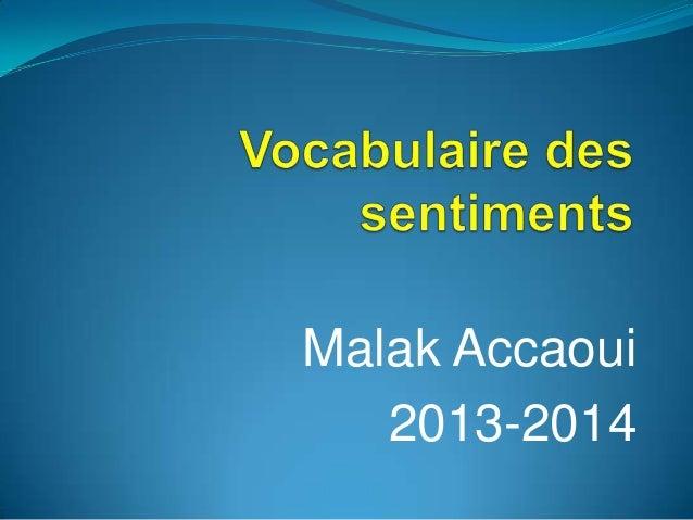 Malak Accaoui 2013-2014