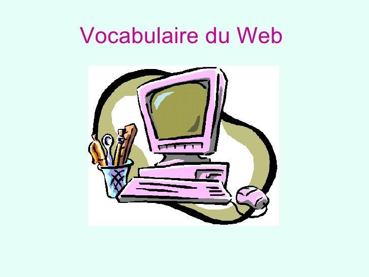Vocabulaire Web