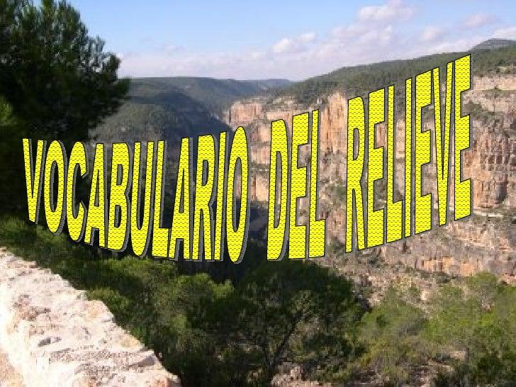 PABLO BANGO ARDUENGO VOCABULARIO  DEL  RELIEVE