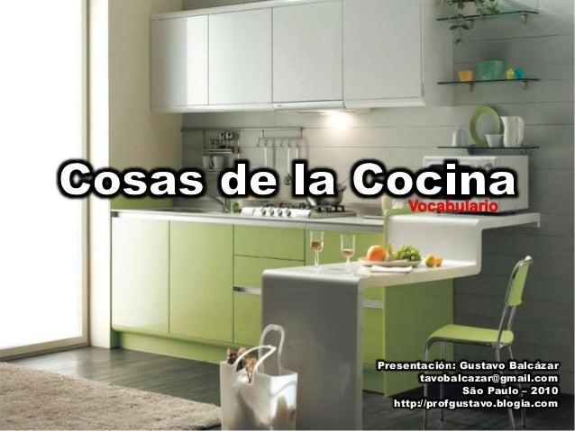 Vocabulario cosas de la cocina - Objetos de cocina ...