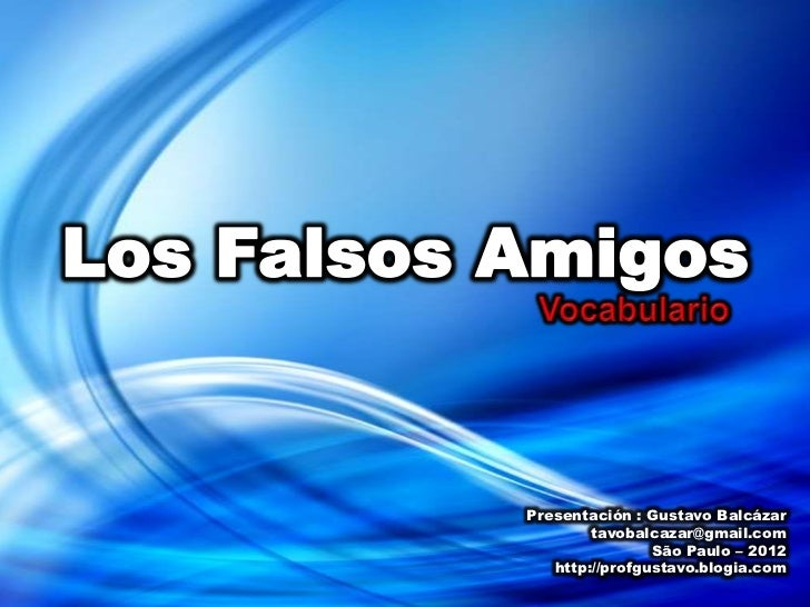 Vocabulario - Falsos Amigos 1