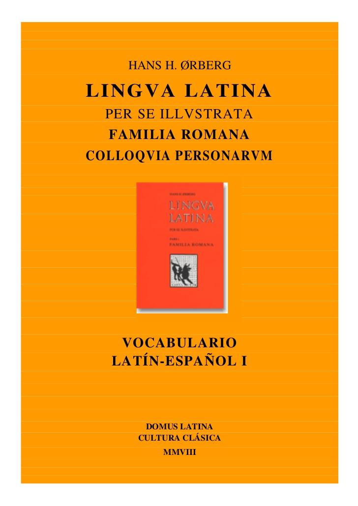 Vocabulario familia-romana