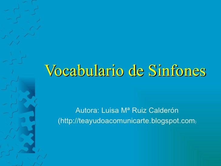 Vocabulario de sinfones