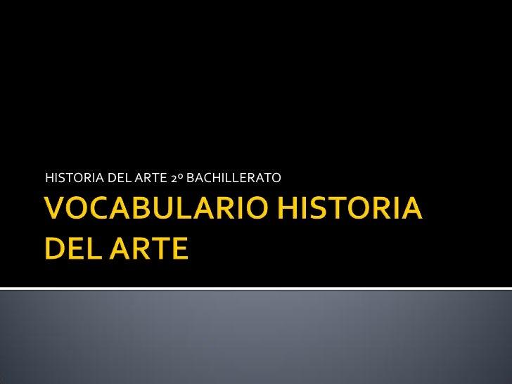 Vocabulario Historia del Arte