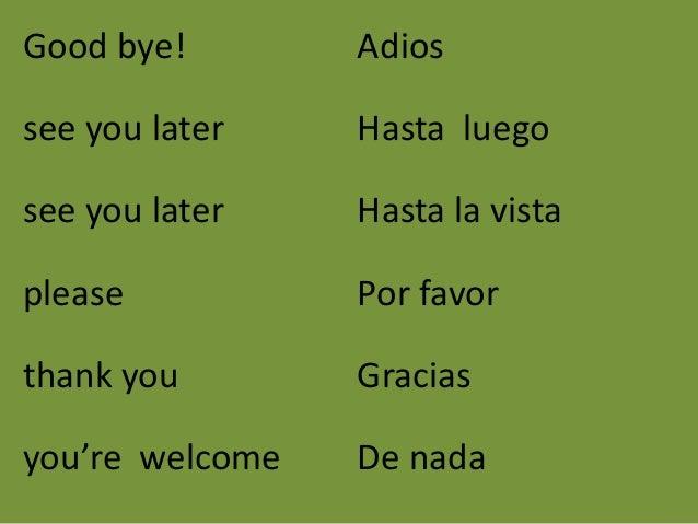 Good Morning Everyone Que Significa : Vocabulario util para to mo y vo