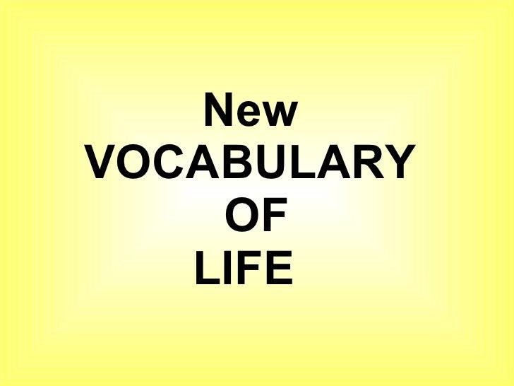 Vocabulary Of Life