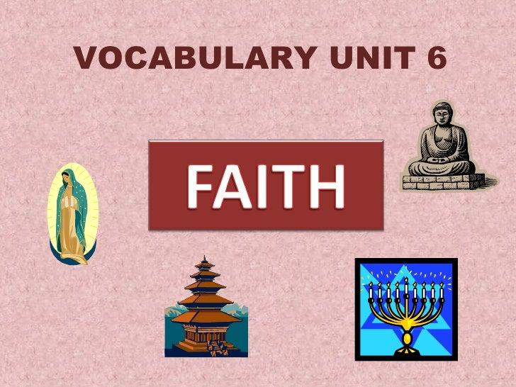Vocabulary Unit 6