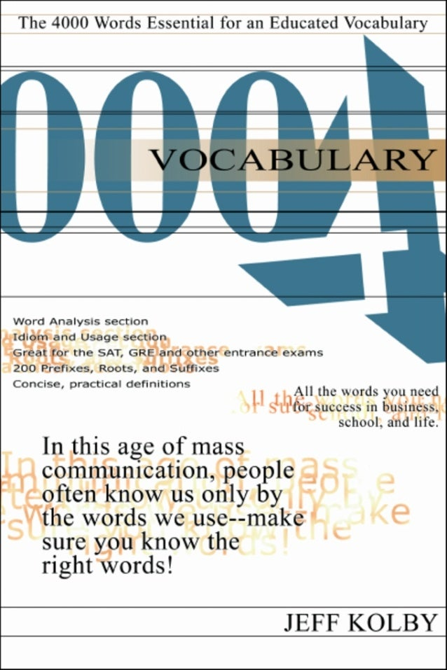 Vocabulary 4000© revised edition