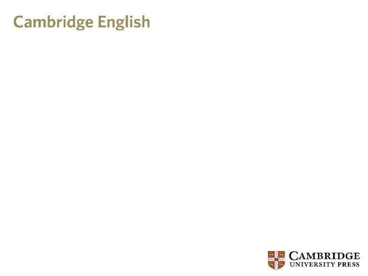 Vocabulary and the cambridge english corpus
