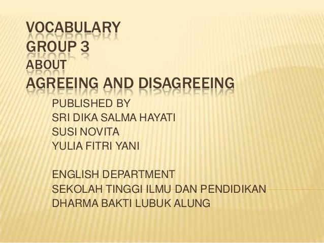 Vocabulary group 3