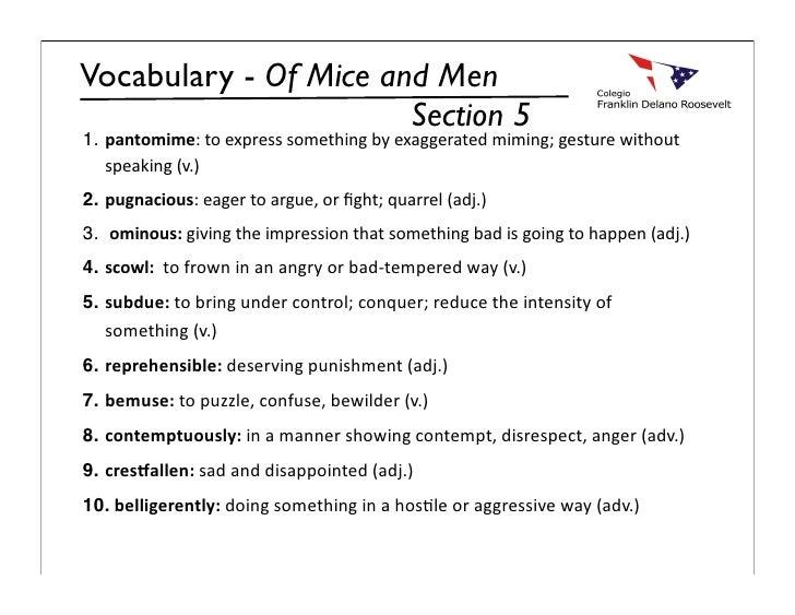 Vocabulary myp9