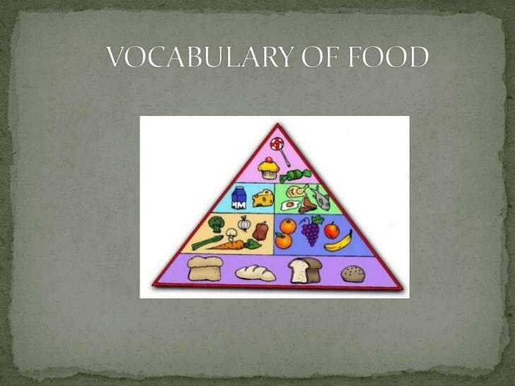 VOCABULARY OF FOOD<br />