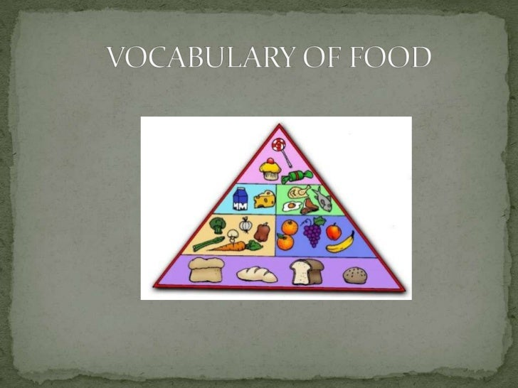 Vocabulary of food