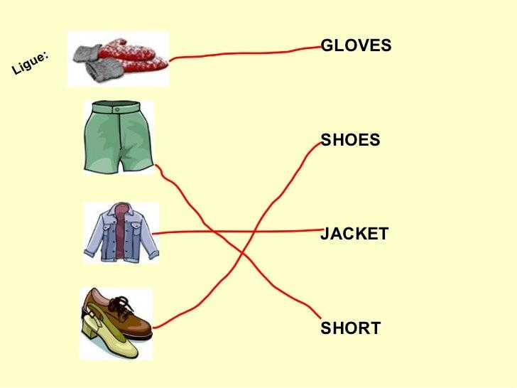Vocabulário roupas