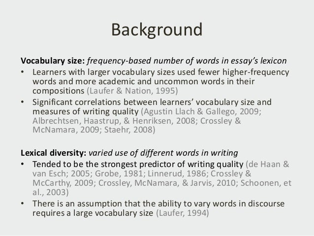 Dissertation writing vocabulary