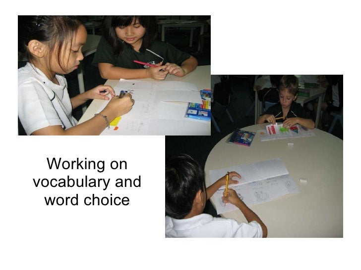 Working on vocabulary and word choice