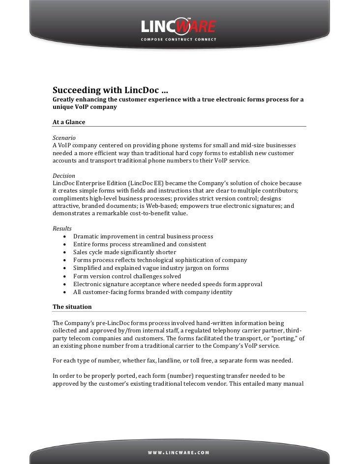 LincDoc VoIP Customer Case Study