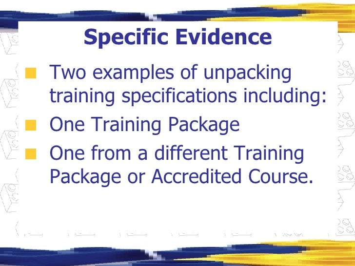 assessment guidelines of a training package