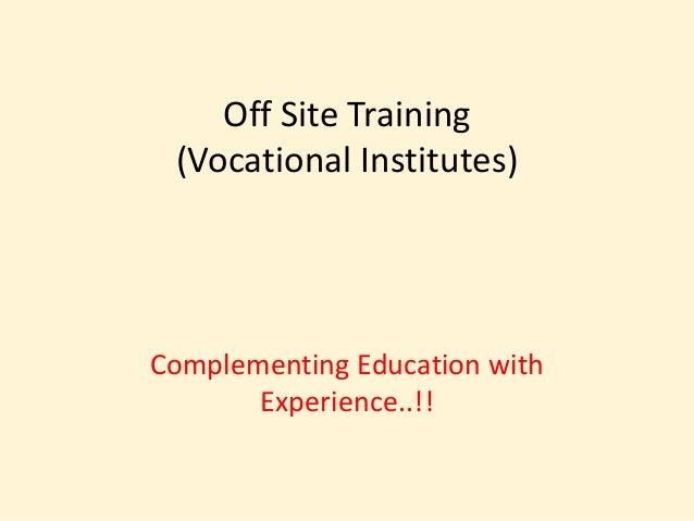 Vocational college p pt