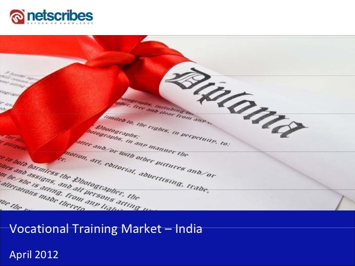 Market Research Report : Vocational Training Market in India 2012