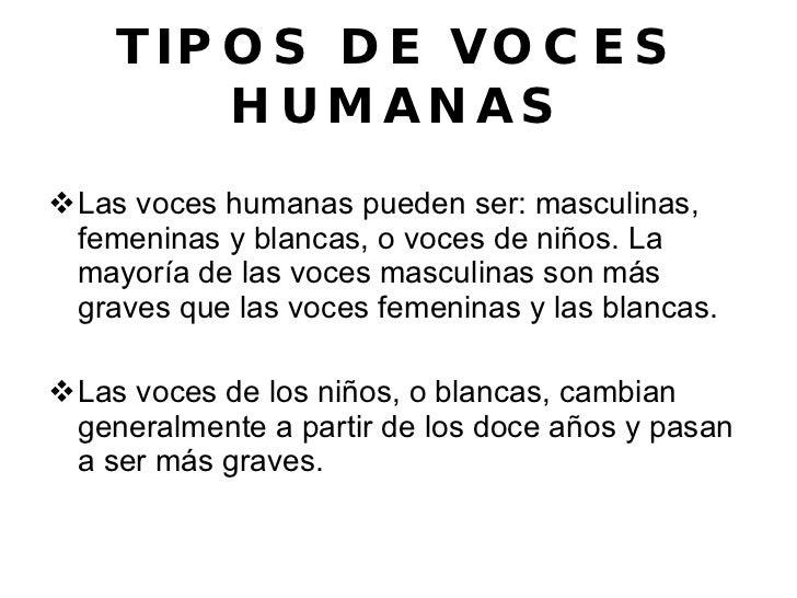 tipos de voces humanas