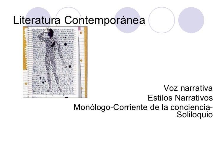 Voces Monologo Corriente De La Conciencia