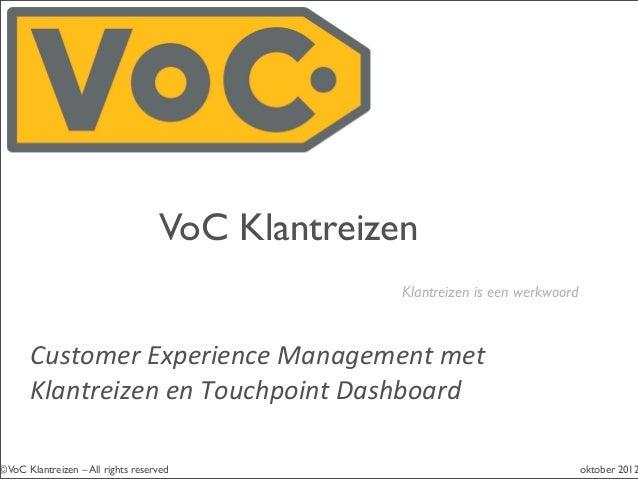 Introductie VoC Klantreizen