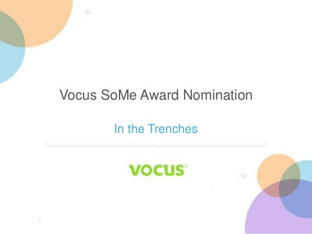 Vocus SoMe Award Nomination In The Trenches