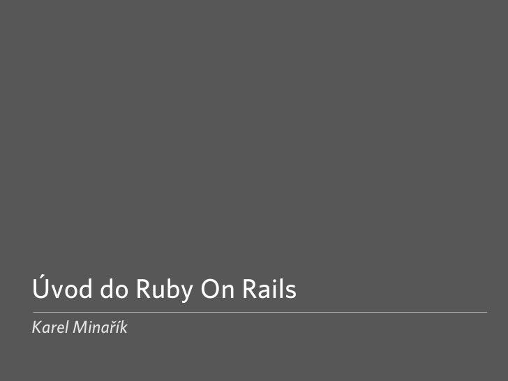 Úvod do Ruby on Rails