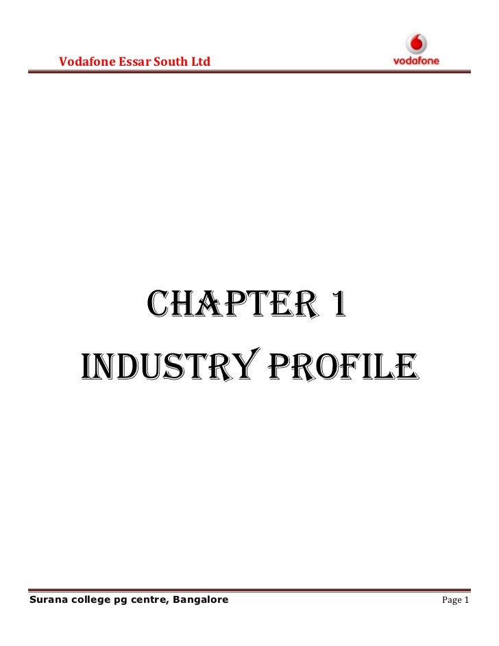CHAPTER 1<br />INDUSTRY PROFILE<br />Introduction to the Telecom Industry in India.<br />The telecom network in India is t...