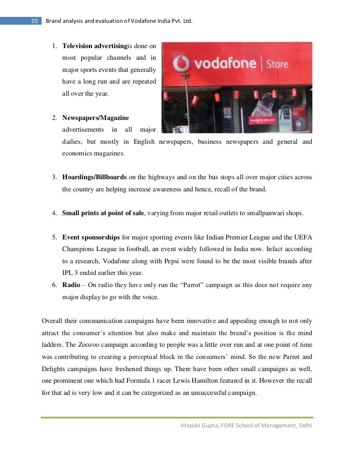 ad analysis vodafone There's been much chatter about this vodafone case study, which looks at an ad campaign created by advertising agency jwt for telecom giant vodafone egypt prior to.