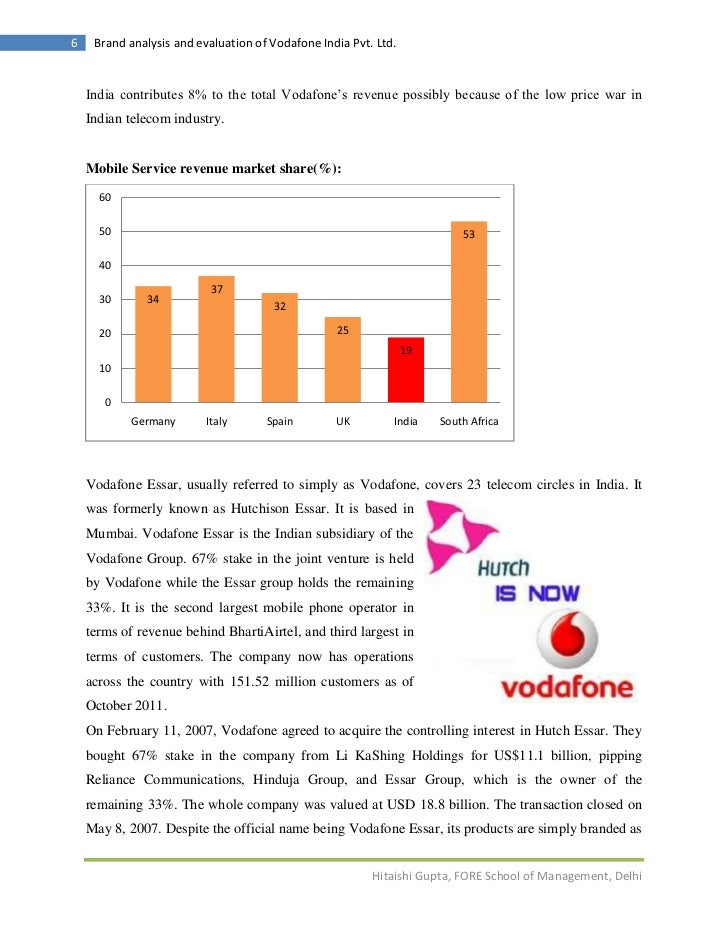 vodafone telecommunications analysis Executive summary vodafone group plc is a global telecommunications company headquartered in newbury, united kingdom it is the world's largest mobile telecom.