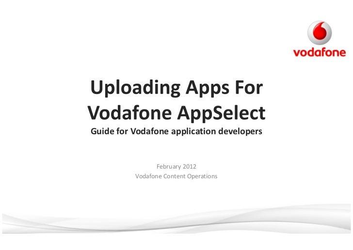 Vodafone application upload guidelines v1