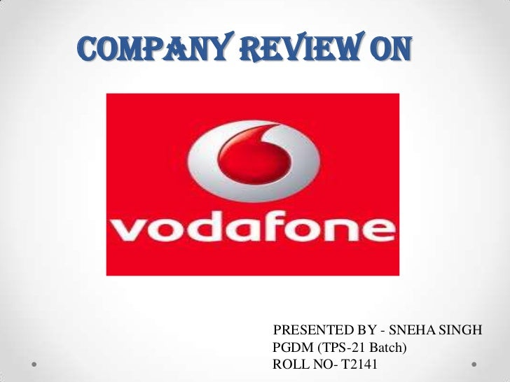 Company review on         PRESENTED BY - SNEHA SINGH         PGDM (TPS-21 Batch)         ROLL NO- T2141