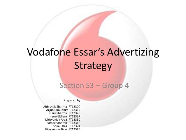 airtel vs vodafone marketing strategies Vodafone's is targeting its marketing strategy to the people living in small towns and villages, lower or middle income group of population, youngsters and business peoples vodafone's good network of distribution channel is helping to reach and provide services to the people living in remote villages and areas of india.