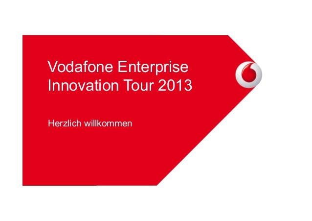 Vodafone Enterprise Innovation Tour 2013 Herzlich willkommen