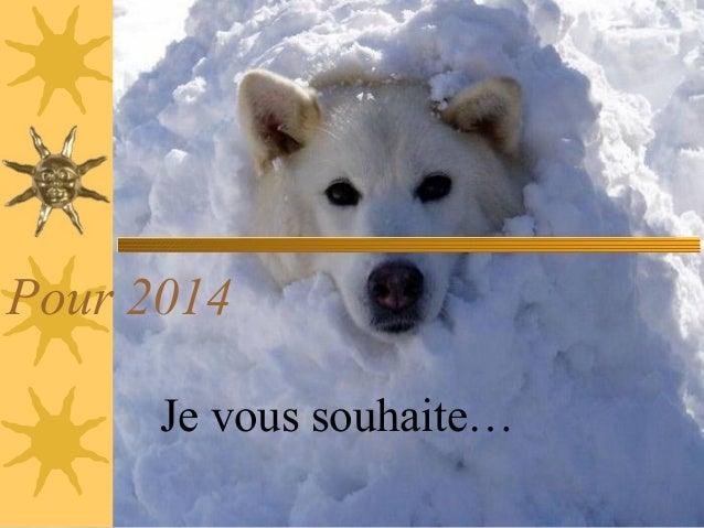 Pour 2014 Je vous souhaite…